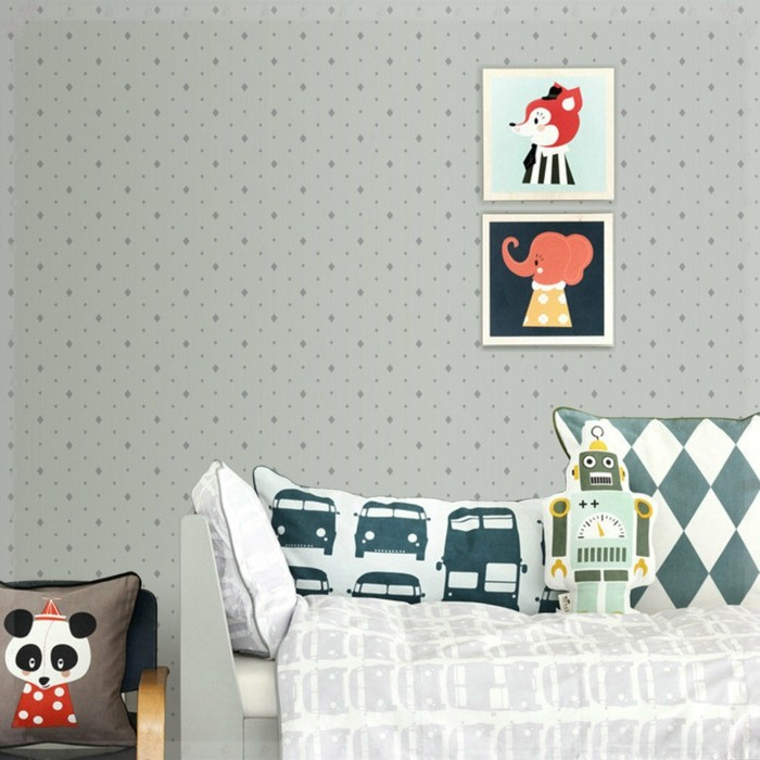 Le papier peint vintage en 42 id es magnifiques - Papier peint enfant vintage ...