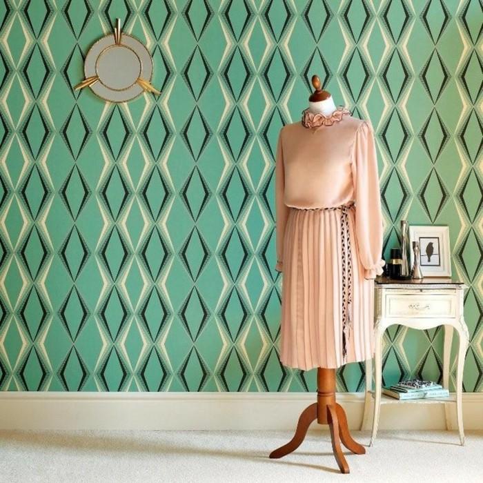 les-plus-beaux-papiers-peints-vintage-papier-peint-intissé-vert