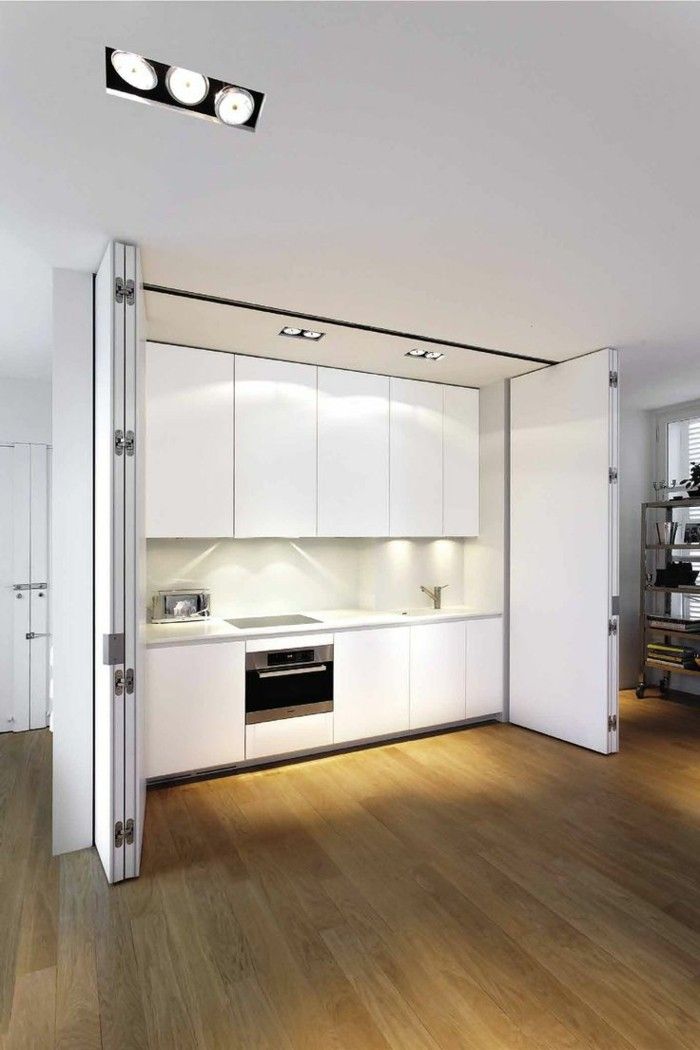 Les portes pliantes design en 44 photos for Meuble cuisine une porte