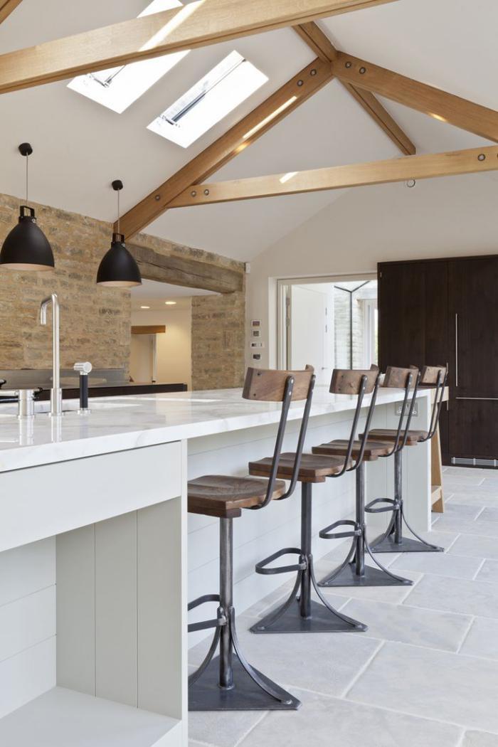les-vieilles-granges-belle-cuisine-rustique-moderne-rénovation-de-vieille-grange