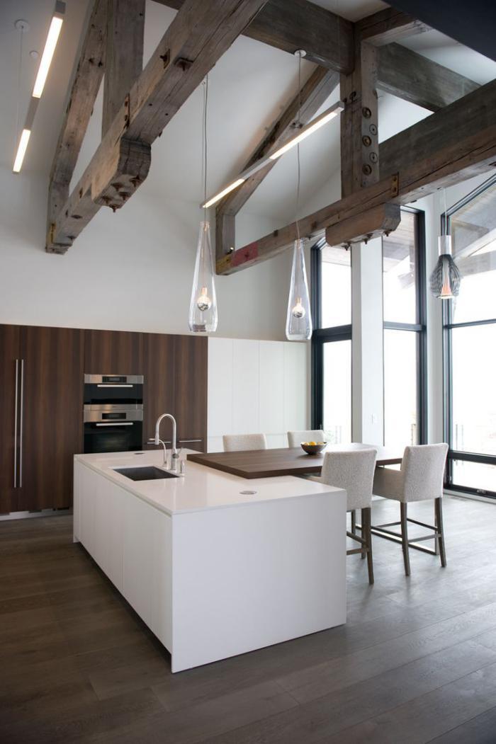 Les vieilles granges transform es en maisons lofts for Cuisine moderne loft