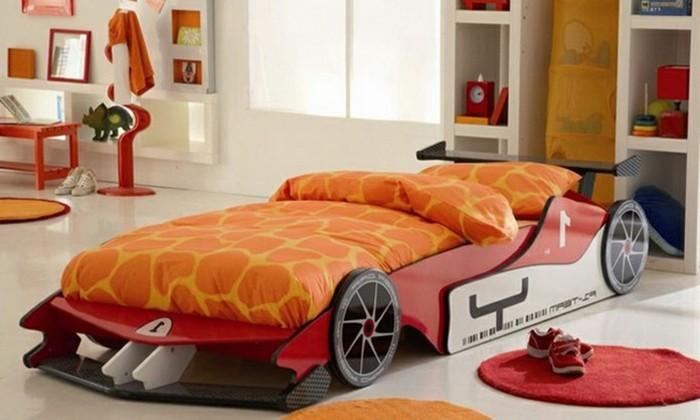 chambre garcon avec lit voiture. Black Bedroom Furniture Sets. Home Design Ideas