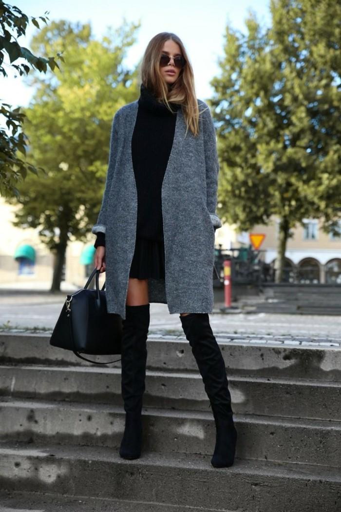 long-gilet-femme-bottes-longues-moderne-gilet-semi-long-tenue-de-jour