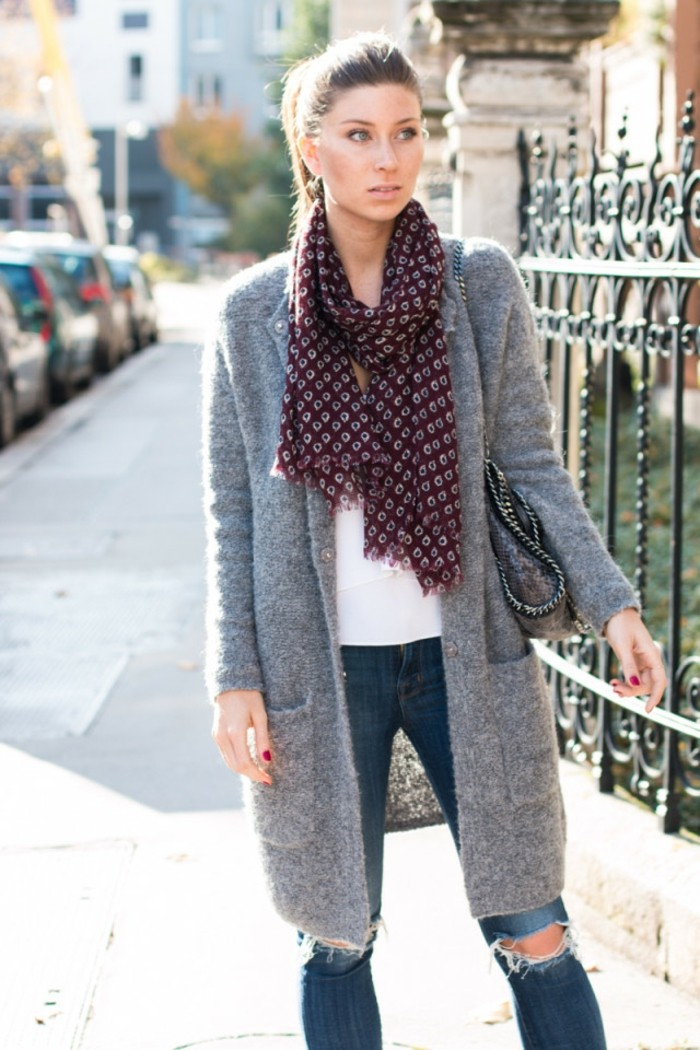 long-gilet-femme-gris-gilet-semi-long-tenue-de-jour