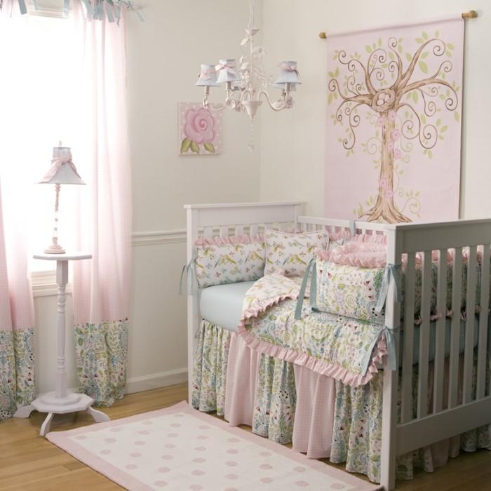luminaire-enfant-chambre-rose-luminaire-bébé-lampadaire-enfant