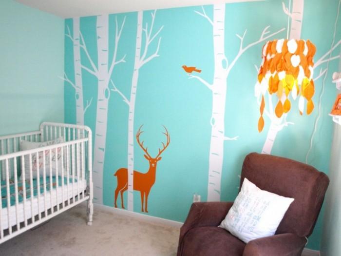 luminaire-enfant-luminaire-bébé-lampadaire-enfant-orange-cerf-arbre