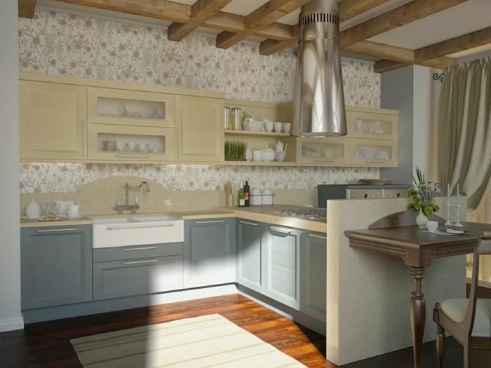 maison-papier-peint-vintage-papier-peint-cuisine-rustique