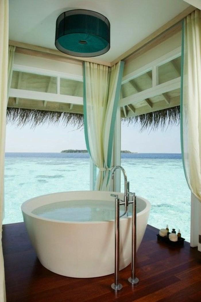 meuble-salle-de-bain-teck-ikea-alinea-meuble-de-salle-de-bain-dans-l-ocean