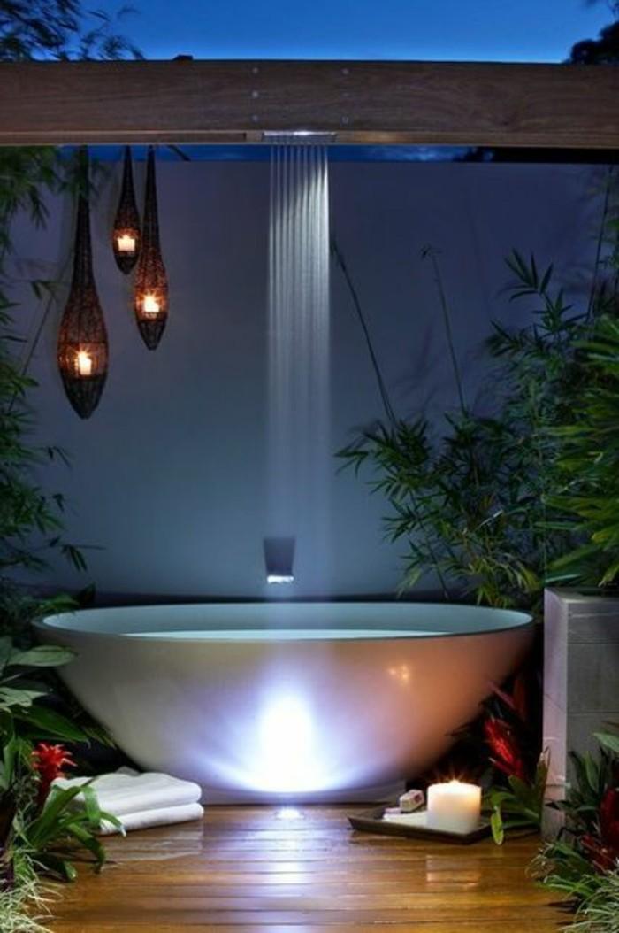 meuble-salle-de-bain-teck-ikea-alinea-meuble-de-salle-de-bain-en-dehors-avec-plantes-vertes-sol-en-planchers