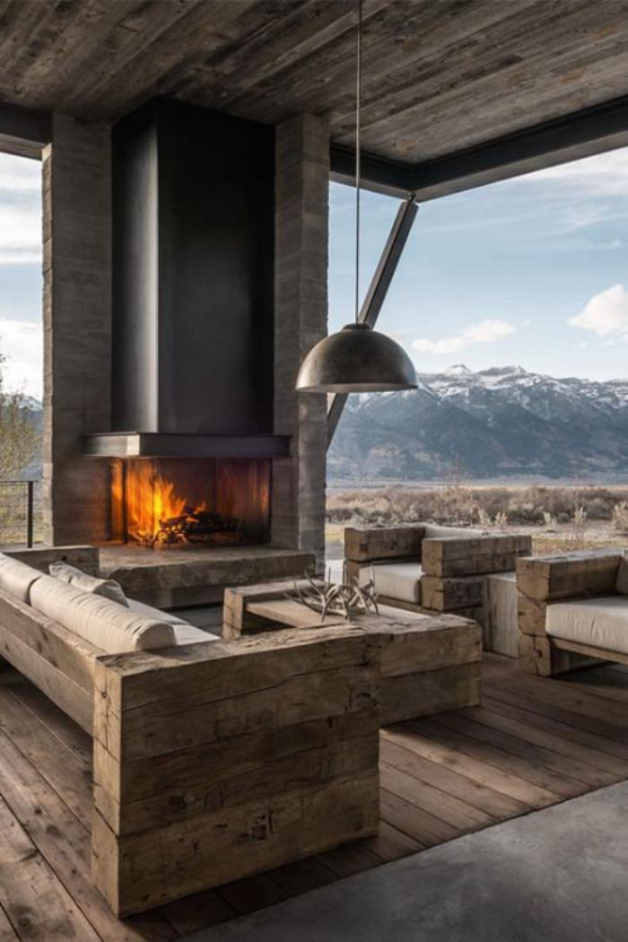 Les meubles grange dans l 39 int rieur contemporain - Exterieur decoratie moderne tuin ...