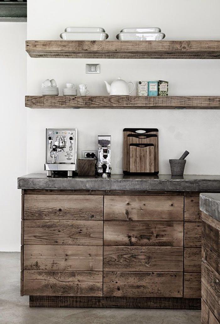 Les meubles grange dans l 39 int rieur contemporain for Meuble avec bois de grange