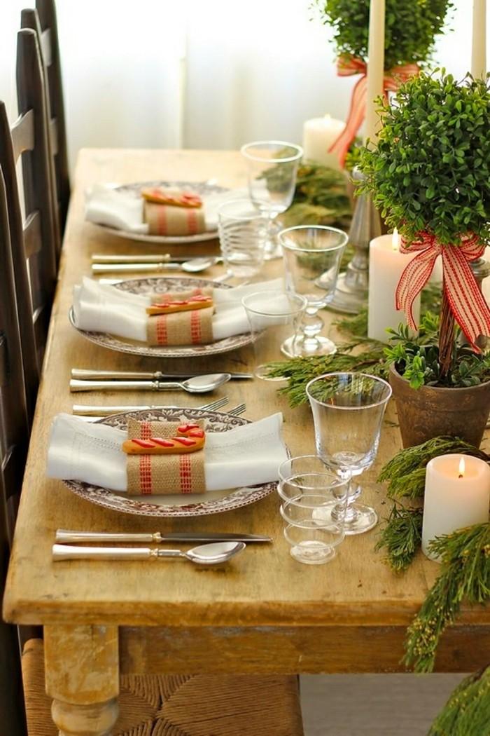 mignon-decoration-de-table-de-noel-décoration-de-table-noel-rustique