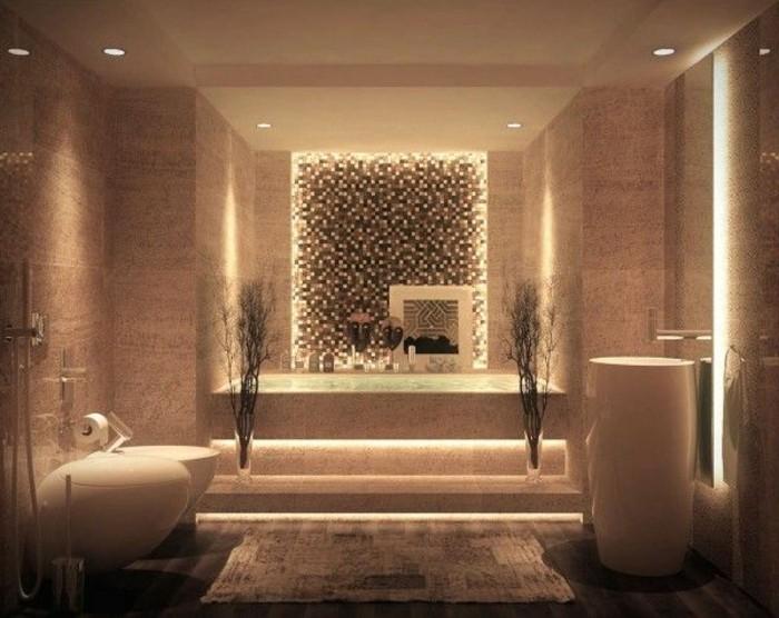 Miroir lumineux salle de bain pas cher maison design for Salle bain leroy merlin