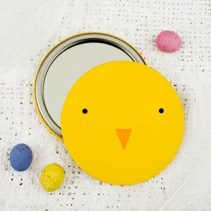 miroir-poche-pas-cher-de-couleur-jaune-joli-miroir-rond-jaune-originale-variante-pour-le-miroir