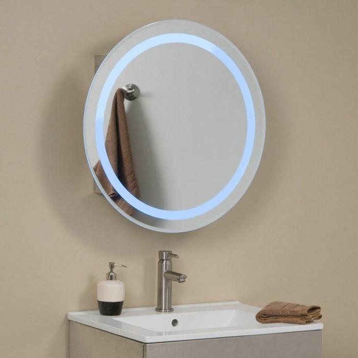 Mille et une id es pour choisir le meilleur miroir lumineux - Miroir salle de bain rond ...