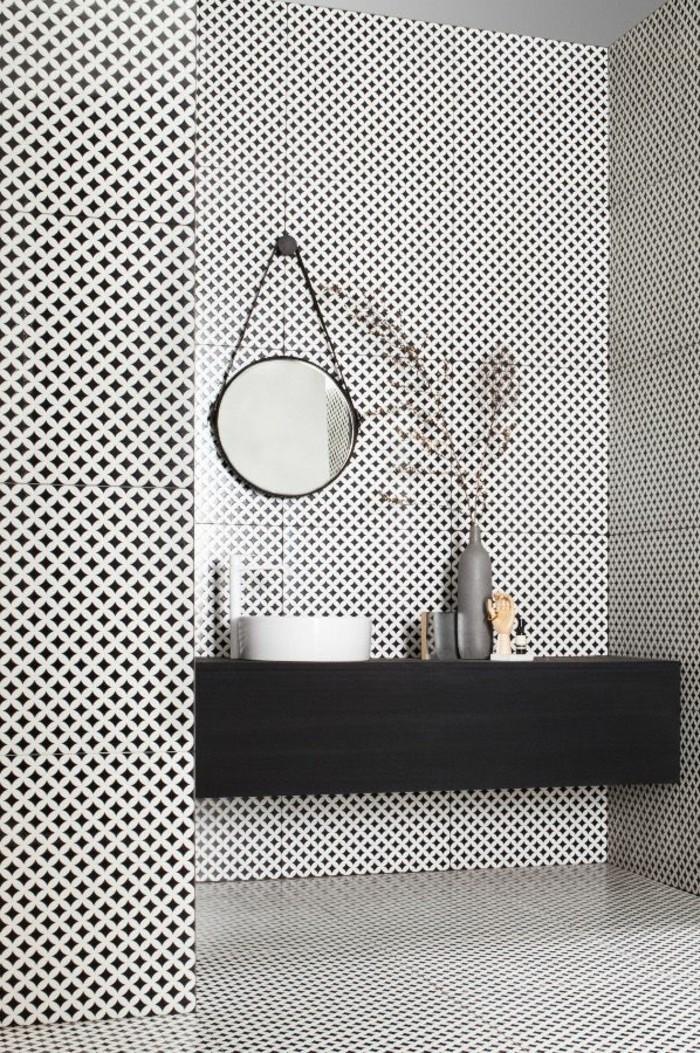 Salle De Bain Mosaique Noir : La salle de bain noir et blanc les dernières tendances