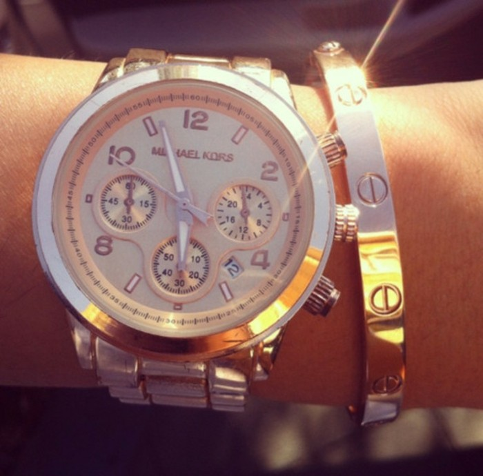 montre-or-rose-homme-cool-stylé-montre-moderne-michel-kors