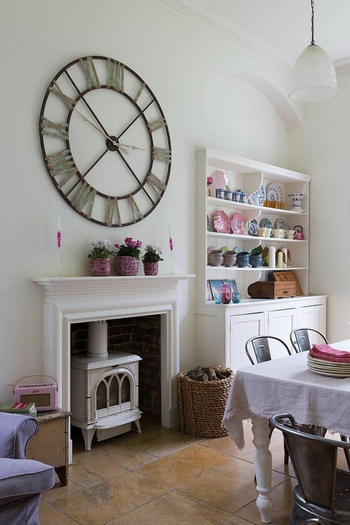 mur-horloge-géante-pas-cher-pendule-murale-décoration-cuisine-jolie