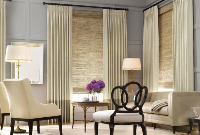 les doubles rideaux autant de belles id es. Black Bedroom Furniture Sets. Home Design Ideas