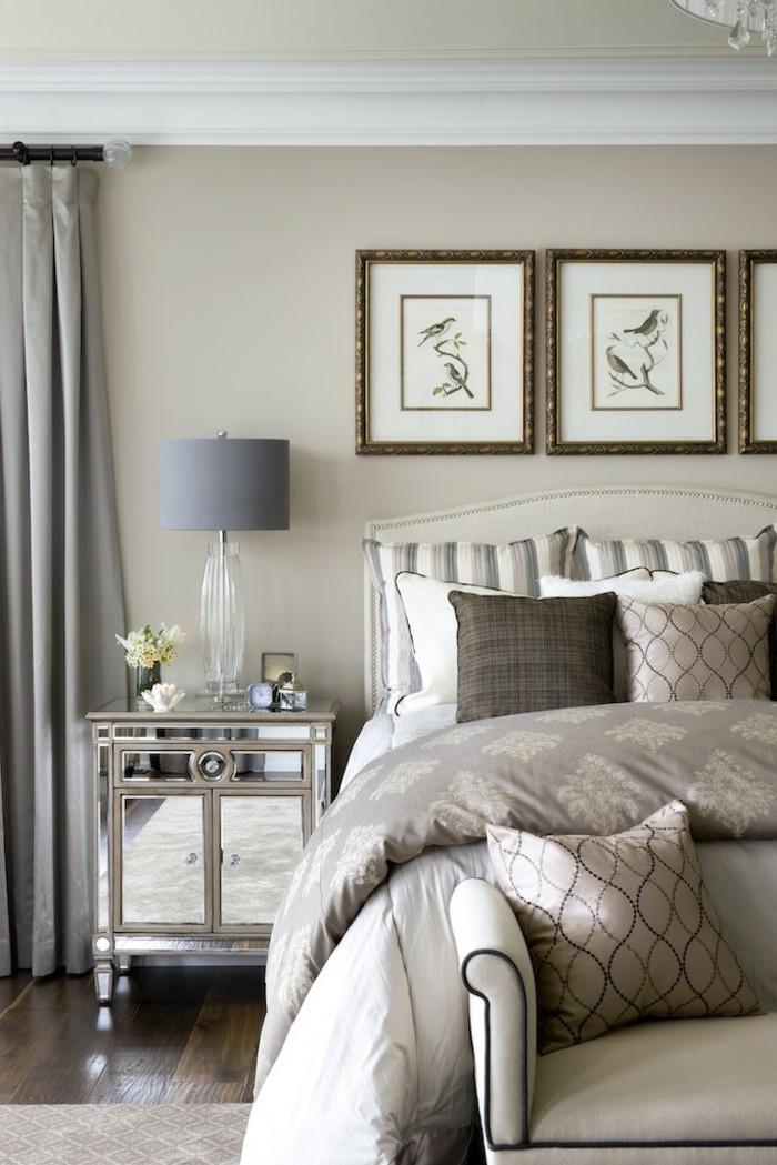 peinture-taupe-gris-taupe-peinture-couleur-taupe-lit-chambre-à-coucher