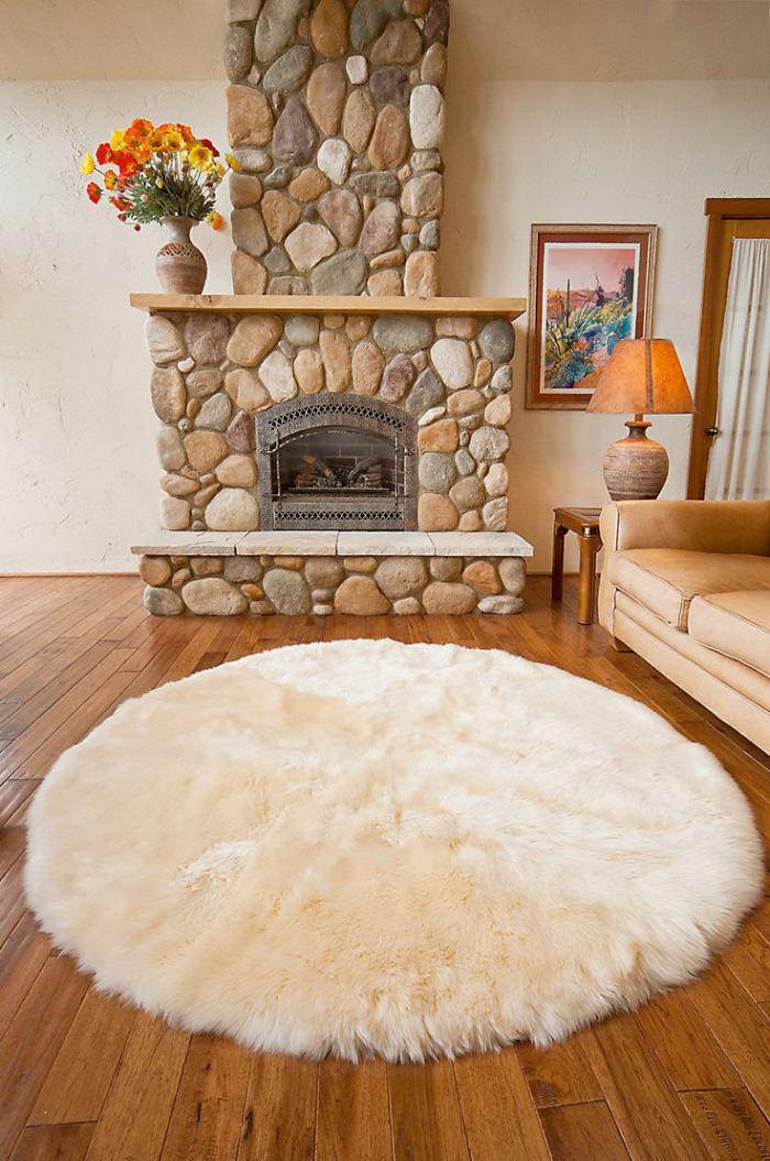 petit-tapis-rond-super-moelleux-couleur-beige