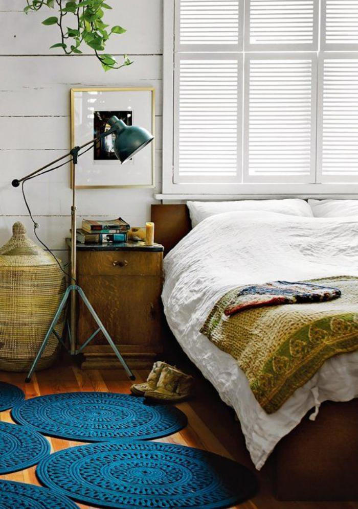petit-tapis-rond-tapis-ronds-bleus-chambre-à-coucher