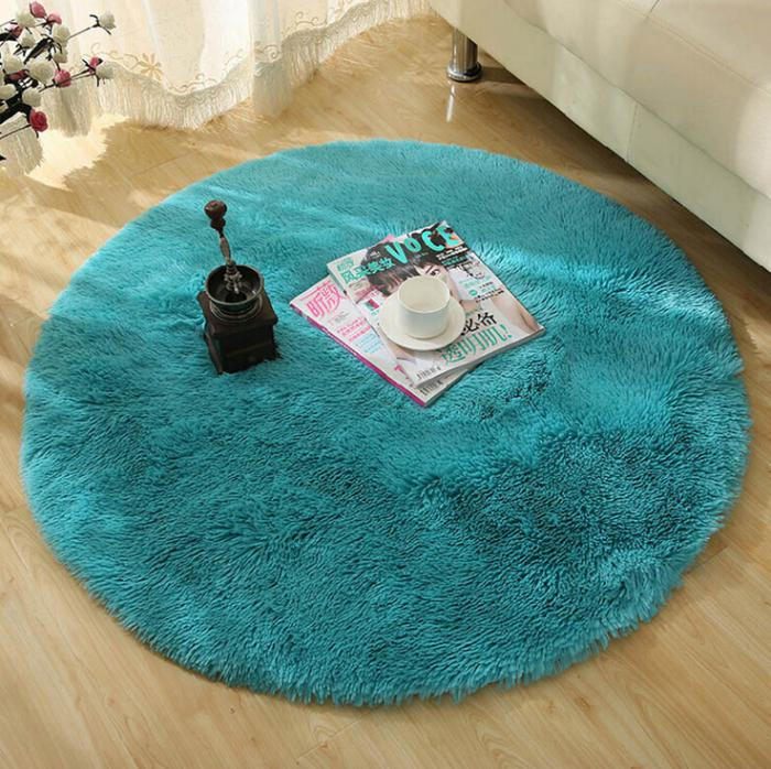 tapis rond bleu vert. Black Bedroom Furniture Sets. Home Design Ideas