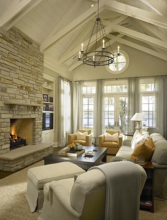 pierre-apparente-beau-salon-moderne-manteau-de-cheminée-pierre-apparente
