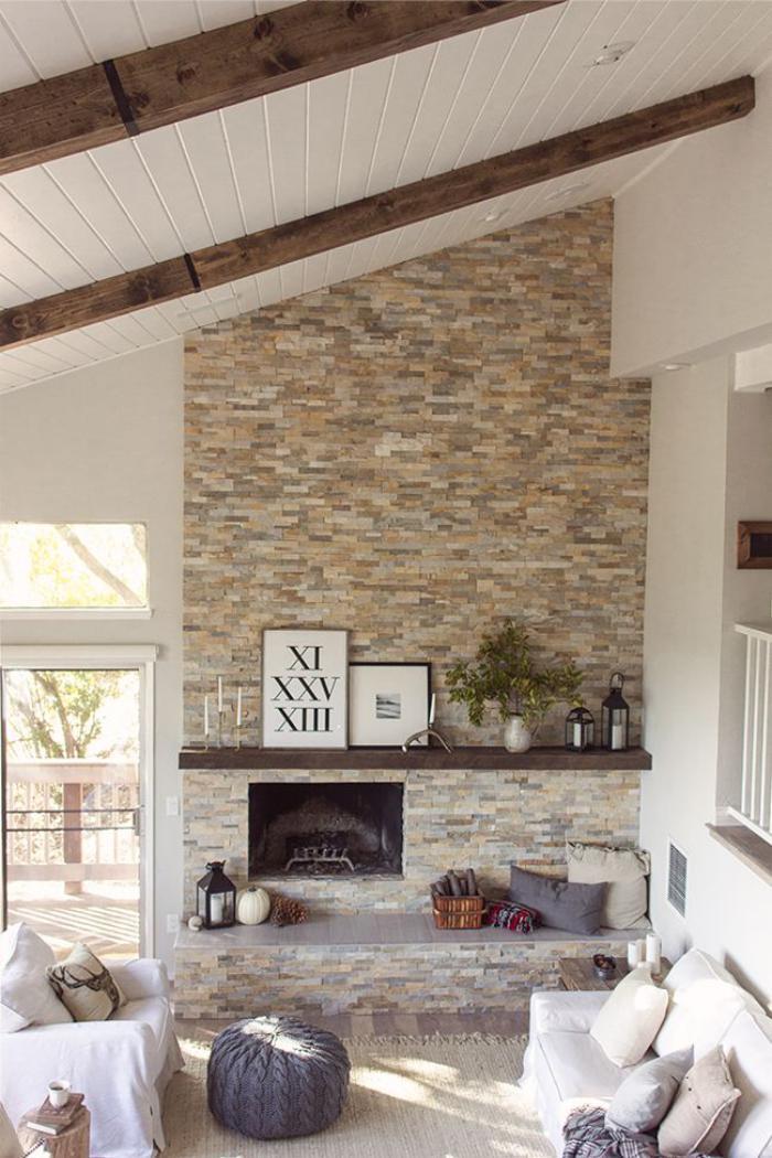 la d co avec pierre apparente. Black Bedroom Furniture Sets. Home Design Ideas