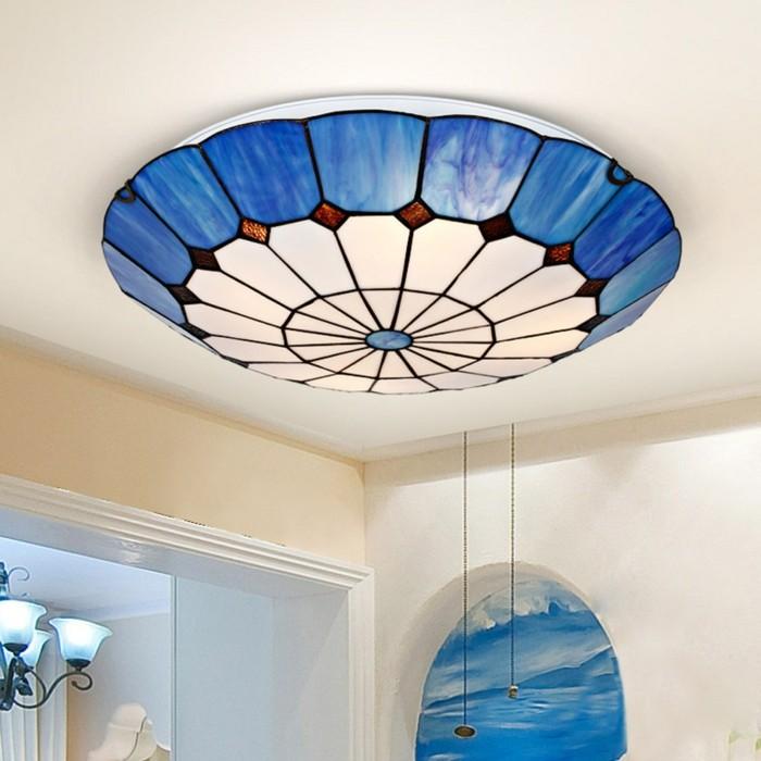 plafonnier-led-pas-cher-plafonnier-design-faux-plafond-tendu-de-couleur-bleu-dessiné