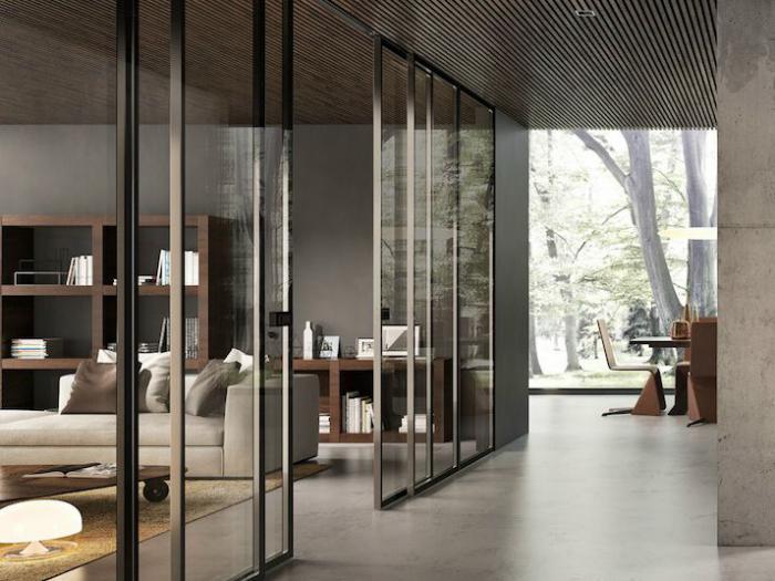 Porte - Porte coulissante bois et verre ...
