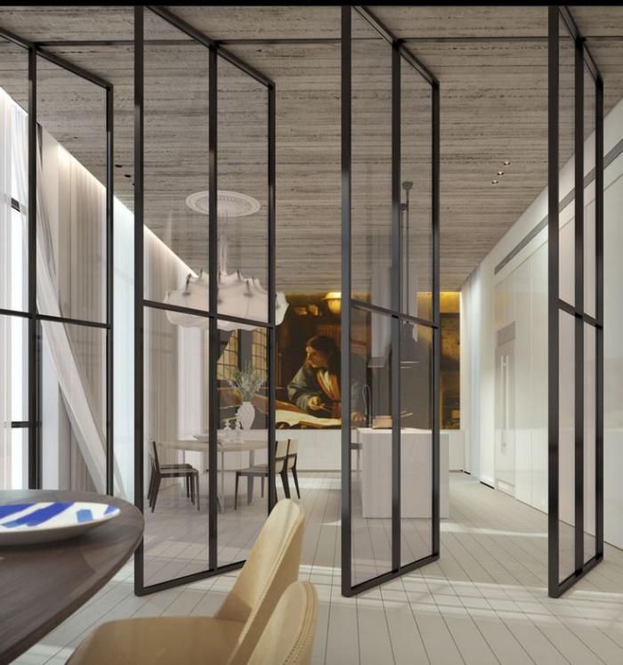 la porte coulissante en verre gain d 39 espace et