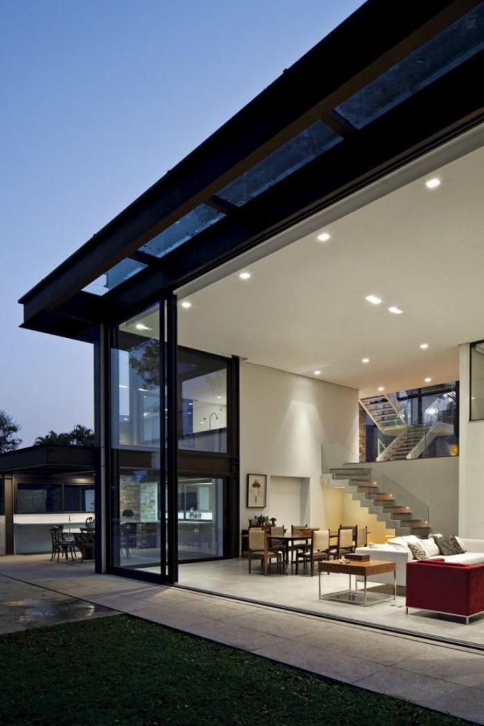 Facade De Porte De Cuisine : La porte coulissante en verre gain d espace et
