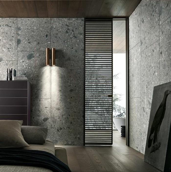 porte-persienne-en-bois-foncé-pour-le-salon-moderne-joli-intérieur-gris-dans-le-salon