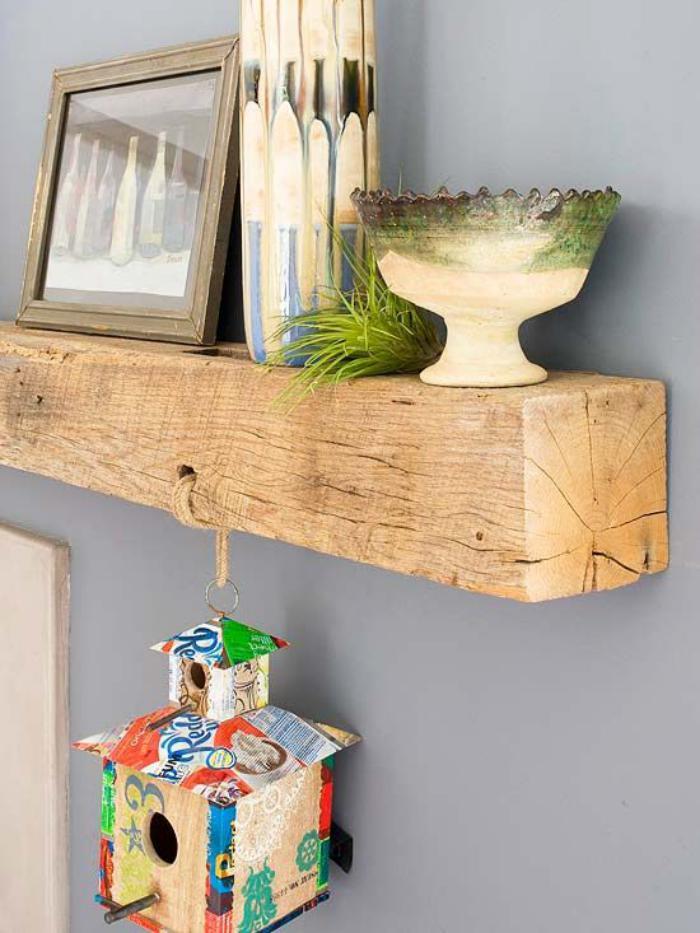 poutre-en-bois-belle-étagère-murale-poutre