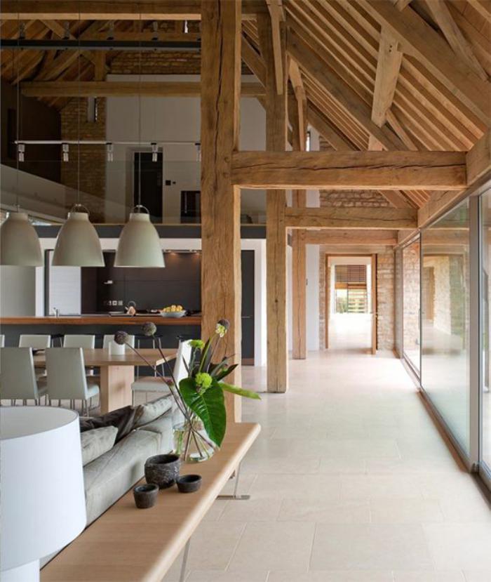 La poutre en bois comment l'incorporer dans l'intérieur # Traitement Poutre Bois Interieur