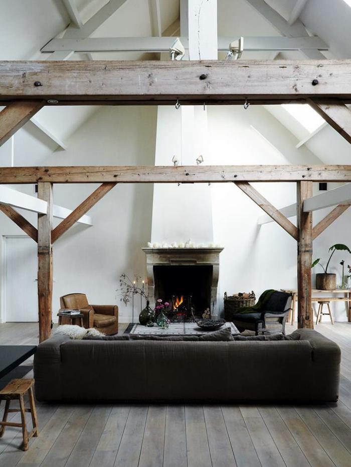 la poutre en bois comment l 39 incorporer dans l 39 int rieur. Black Bedroom Furniture Sets. Home Design Ideas