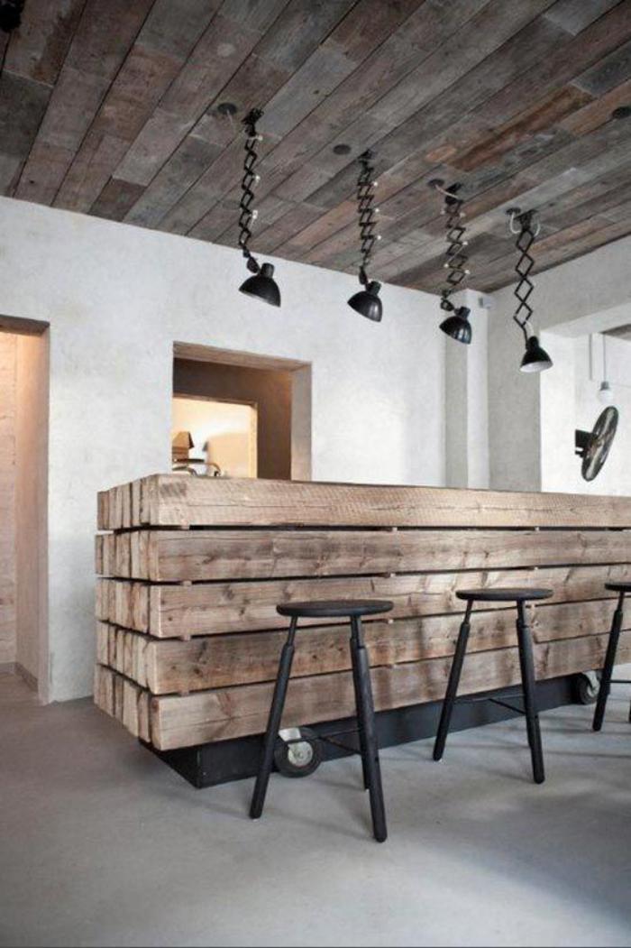 poutre-en-bois-meuble-bar-de-cuisine-en-poutres-en-bois