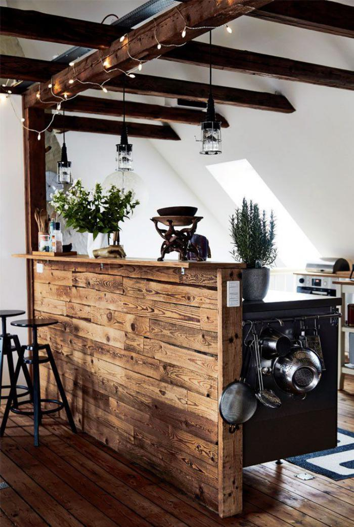 poutre-en-bois-meubles-de-cuisine-en-poutres