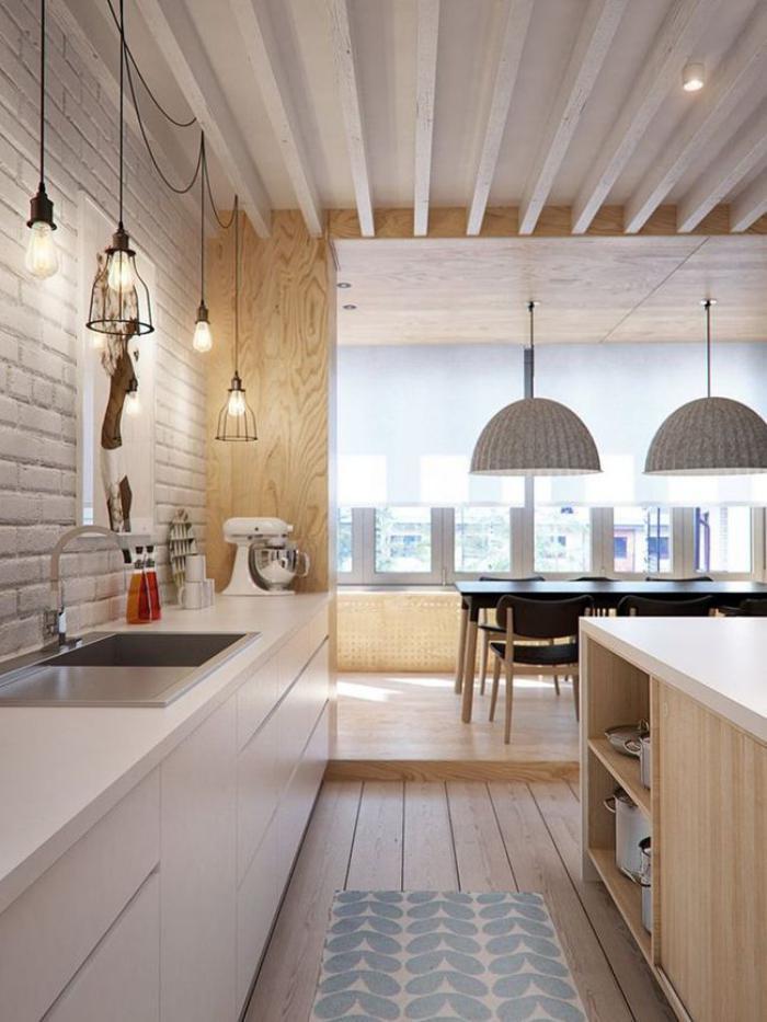 La tendance poutres apparentes 41 bons exemples for Peinture plafond cuisine