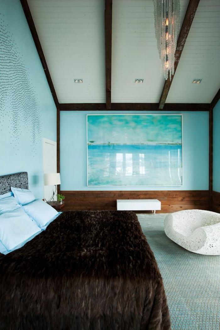 La tendance poutres apparentes 41 bons exemples - Foto chambre a coucher ...