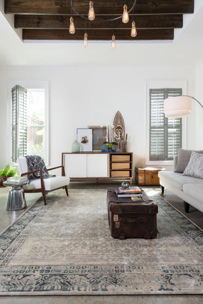 La tendance poutres apparentes 41 bons exemples for Persian rug living room ideas
