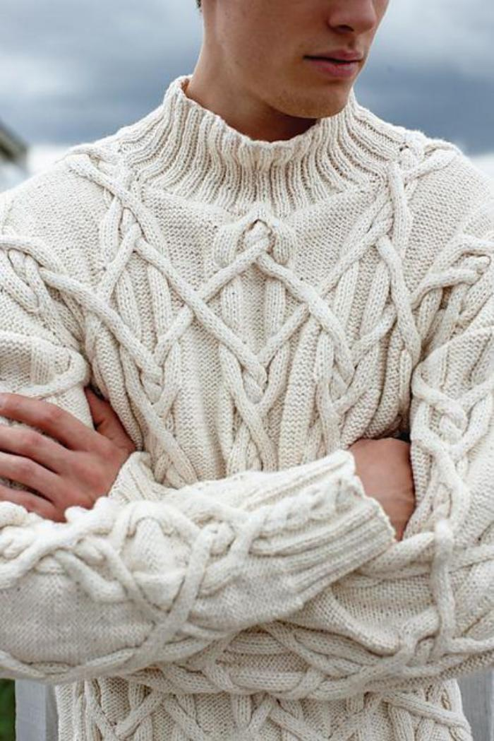 pull-irlandais-hommes-joli-design-pull-tricoté