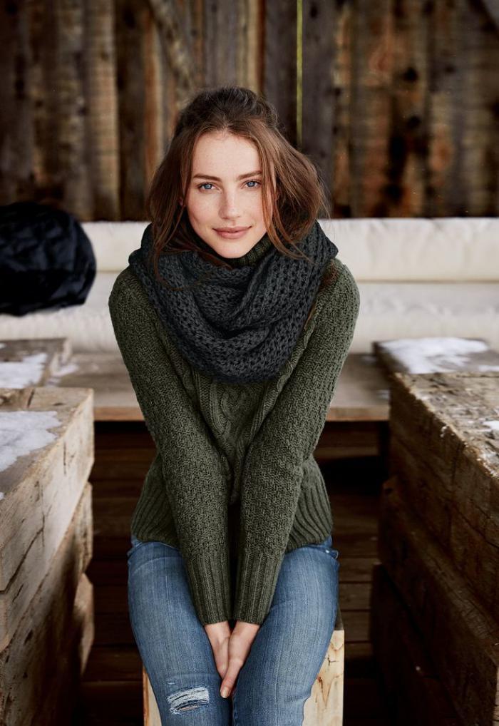 pull-irlandais-mode-d'hiver-classique