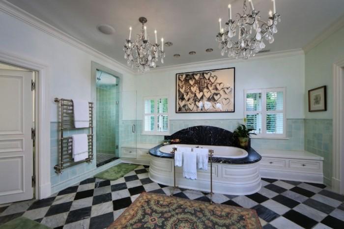 salle-de-bain-contemporaine-baignoire-design-contemporaine-noit-et-blanc-luxueuse