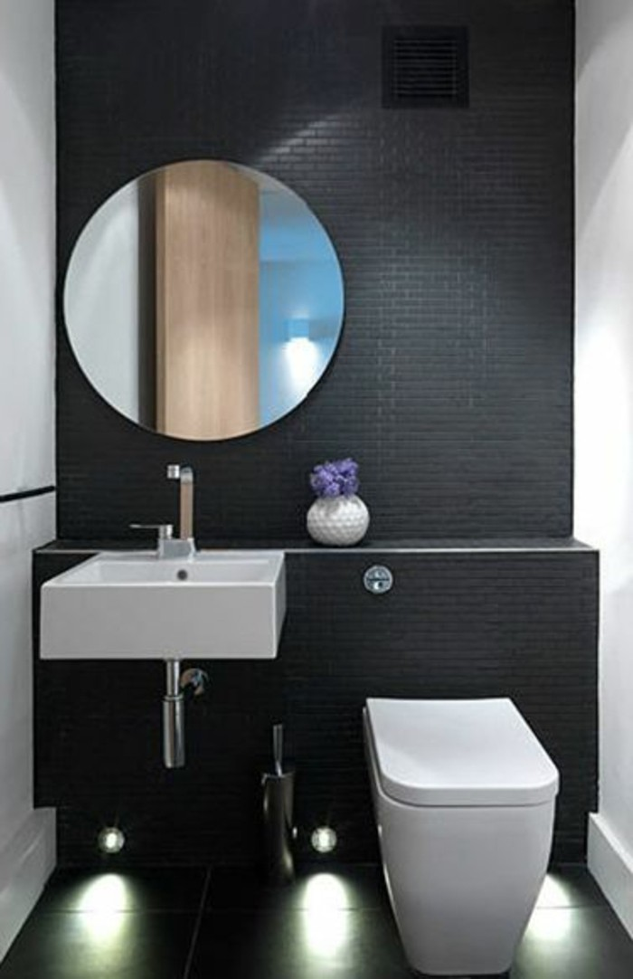 la salle de bain noir et blanc les derni res tendances. Black Bedroom Furniture Sets. Home Design Ideas