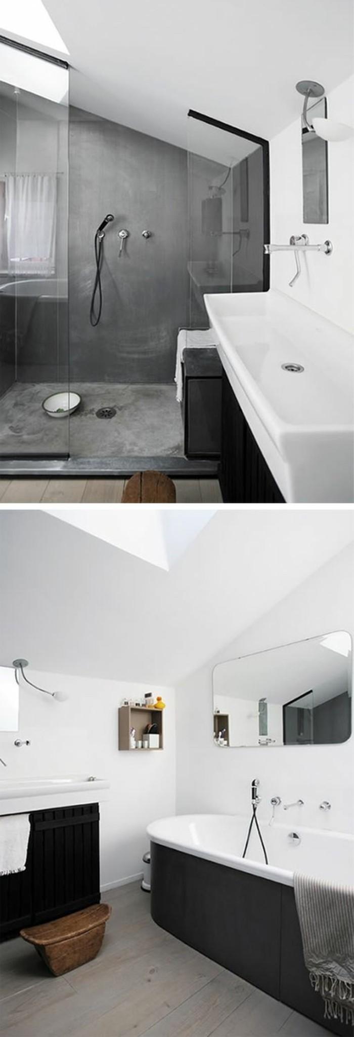 la salle de bain noir et blanc les derni232res tendances
