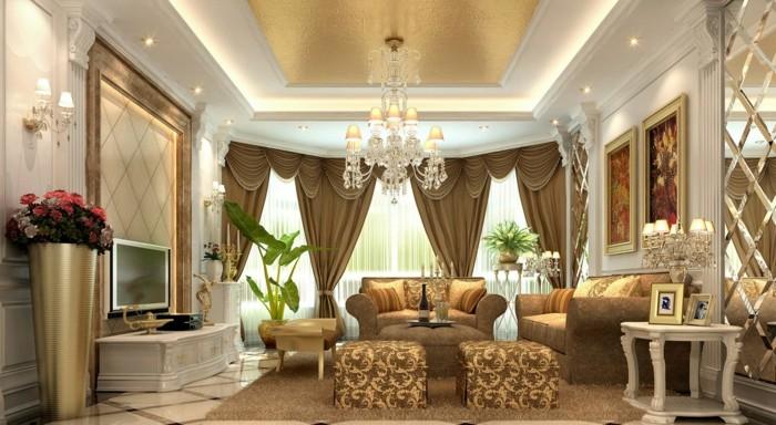 salon-bien-aménagé-double-rideaux-chambre-arrondi