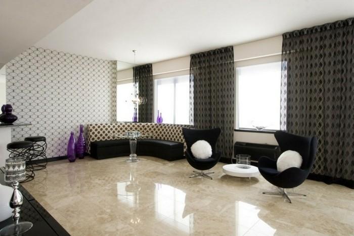 salon-chic-de-luxe-carrelage-polis-carrelage-poli-brillant-de-couleur-beige