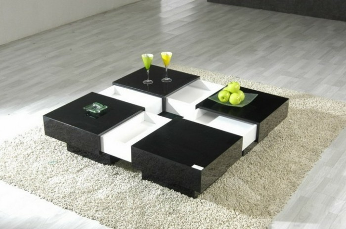 table basse carree moderne. Black Bedroom Furniture Sets. Home Design Ideas